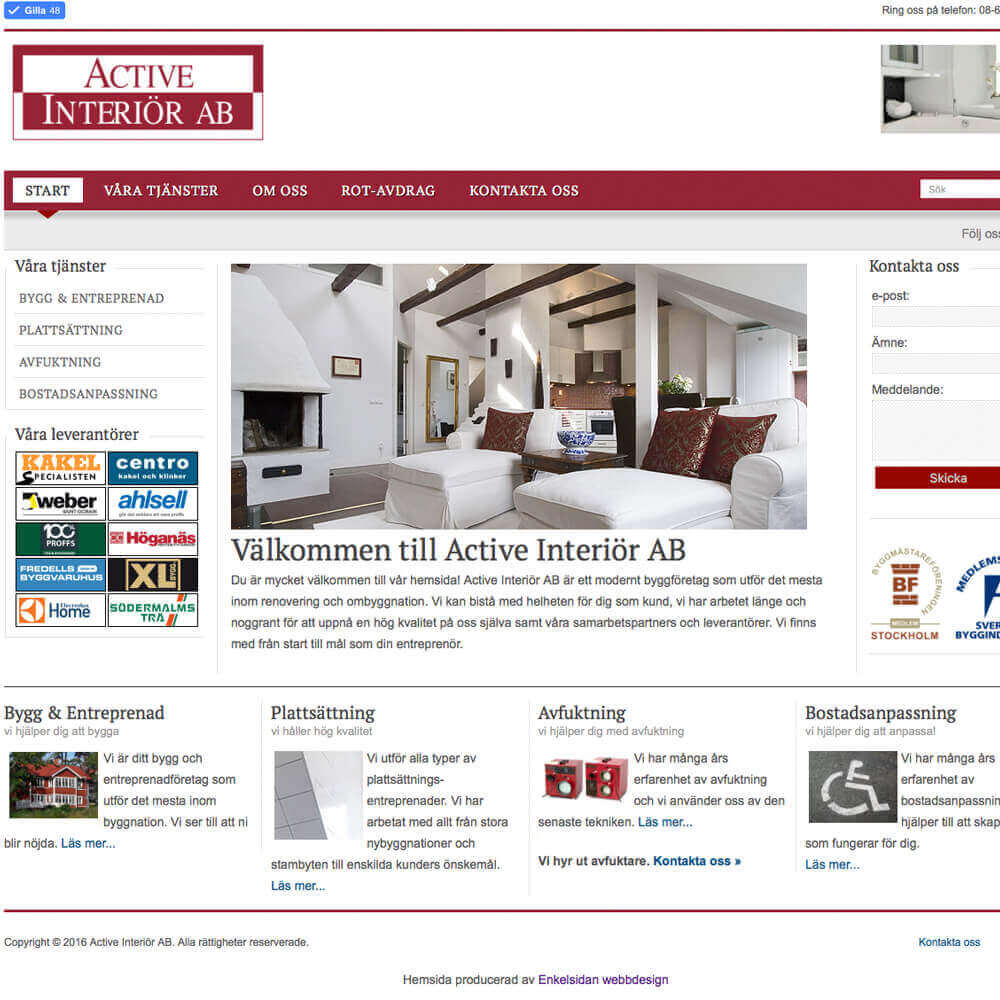 Snygg hemsida webbyråer mobilanpassad hemsida